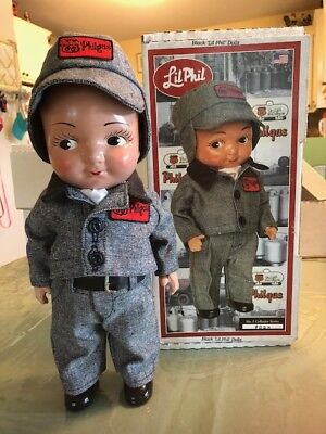 Phillips 66 Lil Phil Doll, white wearing grey uniform #5 5021