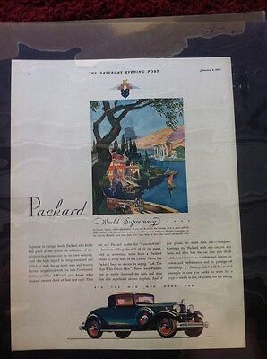 "1932 Packard ORIGINAL 10x13"" AD - Great Garage Decor"