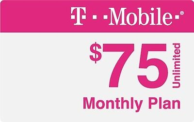 T-Mobile ONE $75 Sim Unlimited 4GLTE Plan (Mexico & Canada included)