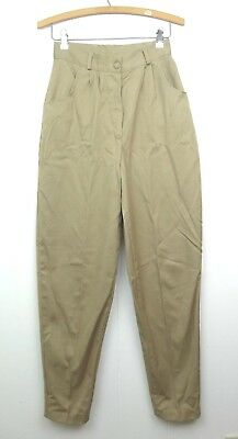 VINTAGE 70s Khaki Beige Mom Pants Jean Paree Womens Size 9 / 10 Retro Costume