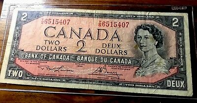 Ottawa 1954 CANADA Canadian $2 Two Dollar Bill Note