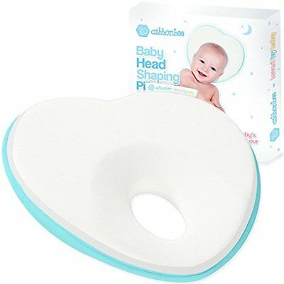 Newborn Baby Pillow, Memory Foam Cushion for Flat Head Syndrome Prevention and