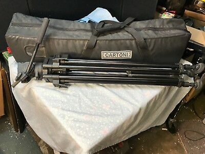 Cartoni Action Pro tripod with fluid head and carrying case
