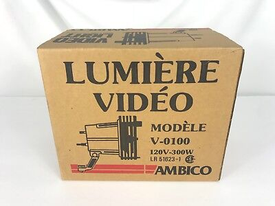 AMBICO VIDEO LIGHT V-0100, 120v, 300 WATT, SPOT OR WIDE ANGLE Cinematography