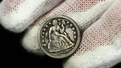 1859 S Seated Liberty Dime Silver 10c BETTER DATE