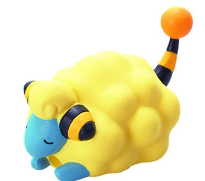 Pokemon Mini Figure CORD KEEPER! Mareep Japan New anime pocket monster