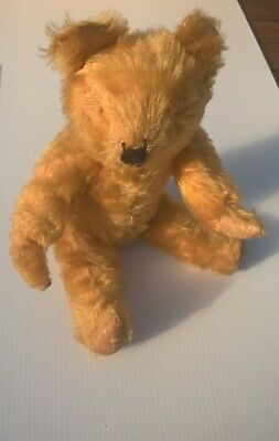 antique teddy bear original condition need work mohair growler not working