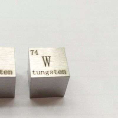 Tungsten Metal 10mm Density Cube 99.95% Pure for Element Collection