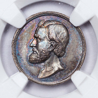 Toned General U.S. Grant NGC MS64 Paquet Silver Medal ex Vigil Brand Collection