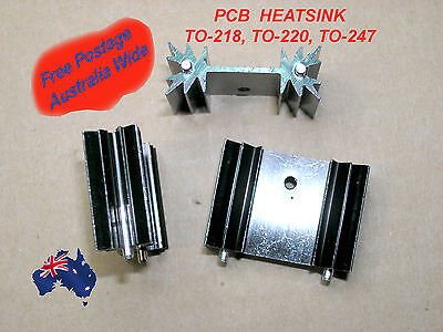 HEATSINK  PCB T0220 T0218 T0247 TOP3 34mm x 25mm x 12mm (Includes Delivery)