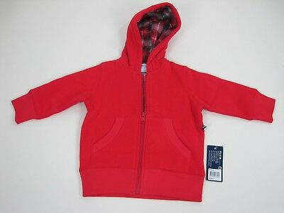 Plum Brother Baby Long Sleeve Zip Up Hoodie Jacket sizes 1 4 Colour Red