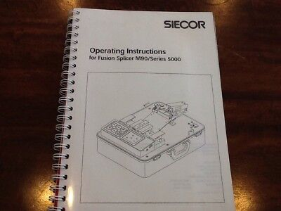 Siecor M90 Series 5000 Fiber Optic Fusion Splicer Manual Only / Otdr Tech Tool