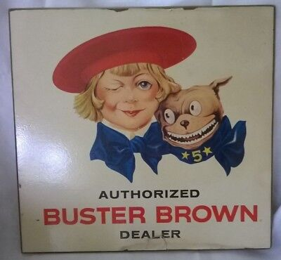 Vintage Buster Brown Shoes store advertising sign