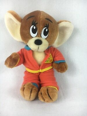 vintage jerry plush from tom and jerry cartoon 1990 toy mouse