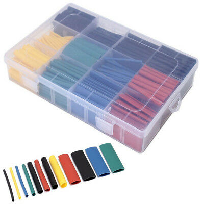 5 Color 8 Size 530pcs 2:1Heat Shrink Tube Tubing Sleeving Wrap Wire Assorted Kit