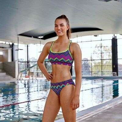 Funkita Ladies Sports Top & Brief 2 Piece - Knitty Gritty from Ezi Sports