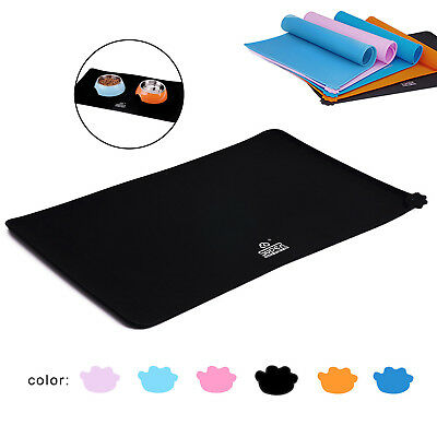 Silicone Pet Feeding Food Mat for Dog Cat Placemat Dish Bowl Non Slip Waterproof