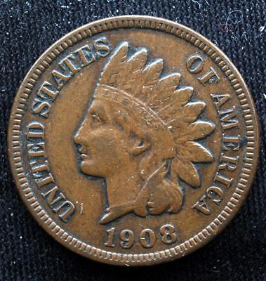 Key Date 1908-S Key Date Indian Head Cent Full Liberty Ihc Low Mintage C18-0105