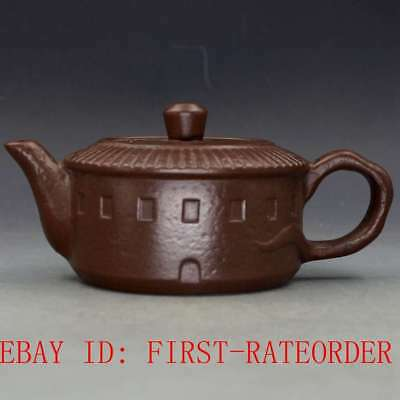 Chinese Yixing Zisha Hand-carved Teapot Made By Wu Yungen F20