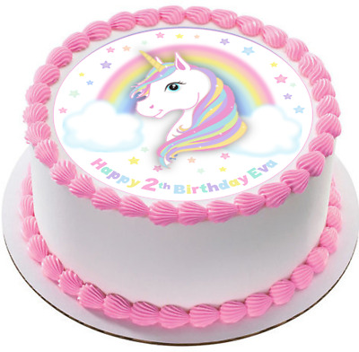 Magical Unicorn Edible Cake Topper Image Decoration