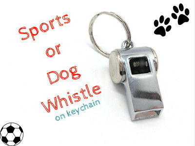 Stainless Steel Sports or Dog whistle keychain
