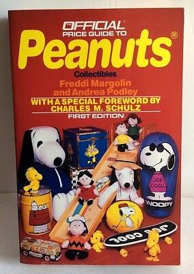 VTG Peanuts Collector Price Guide Book Snoopy Collectibles Autographed 1990 NEW