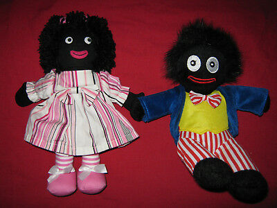 Two Cloth Dolls, Gibson And Kate Finn, 26Cm