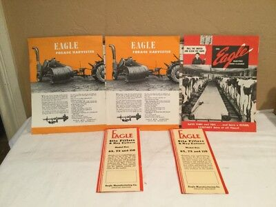 Vintage Advertising Eagle Mfg Co. Farm Equipment Manuals And Papers