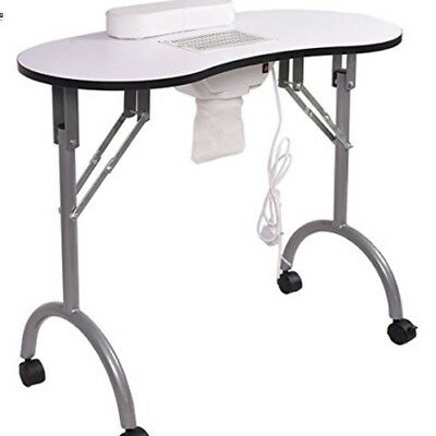 Manicure nail table with extractor fan