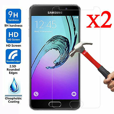 1/2X Tempered Glass Screen Protector For Samsung Galaxy A3 A5 A7 2016 / 2017 @M