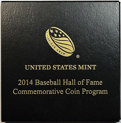 2014-W US Mint $5 Gold Baseball Hall of Fame Commemorative Uncirculated w/ OGP