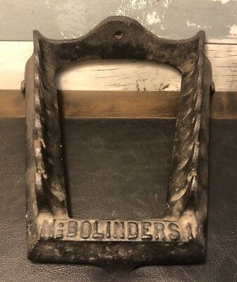 Antique Bolinders No. 1 Cast Iron Table or Wall Mount Shelf Holding Rack Scarce