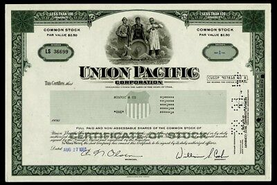 Union Pacific Corporation - less than 100 shares