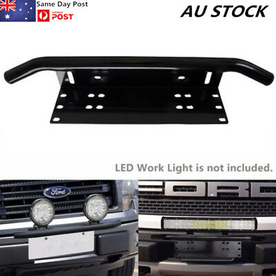License Plate Bracket Bull Bar Front Bumper LED Light Bar Mount Holder Offroad