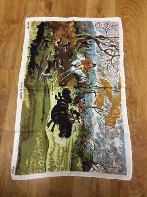 Vintage  Collectable Linen Old Colourful Tea  Towel