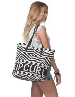 Rip Curl Black Sands Tote Bag White Purse Surf Beach