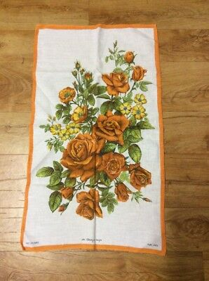 Vintage  Collectable Roses Colourful Tea  Towel