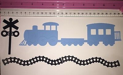 Die Cuts! 'Train Set' Includes Train /Caboose, Signal Box And 2 Tracks Cardstock