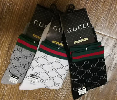 3 pairs GUCCI causal/dress socks , New with tag,  one of each color, Sz M