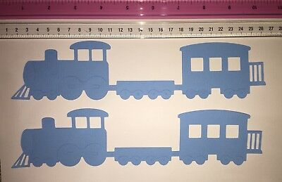 Die Cuts! 2 Pc 'Large Train' Cardstock For Scrapbooking Page You Choose Colours