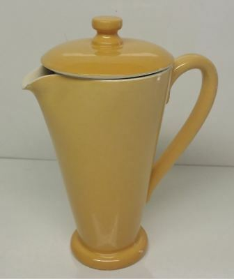 Martin Boyd Pottery: 1950's Mustard Coloured Water Pitcher / Jug with Lid