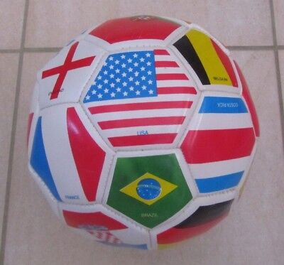 International Flags Countries of the World Soccer Ball Size 4 Youth