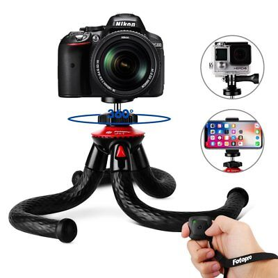 """Tripods for Phone, Fotopro 12"""" Flexible Tripod with Bluetooth 4.0 Anti-Crack"""