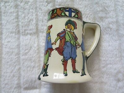 """Royal Doulton Ale Stein Tankard """"New Cavaliers"""" """"D4749"""" c 1940""""s Nice Condition"""