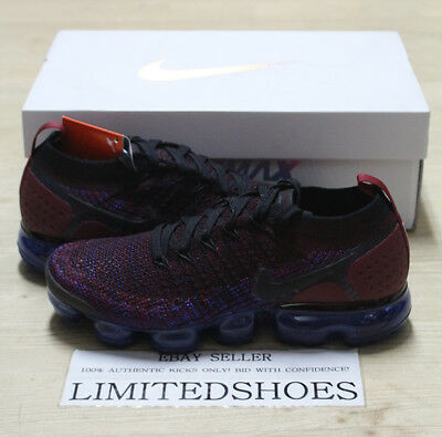 NIKE AIR VAPORMAX FLYKNIT 2 BLACK TEAM RED RACER BLUE 942842-006 Mens