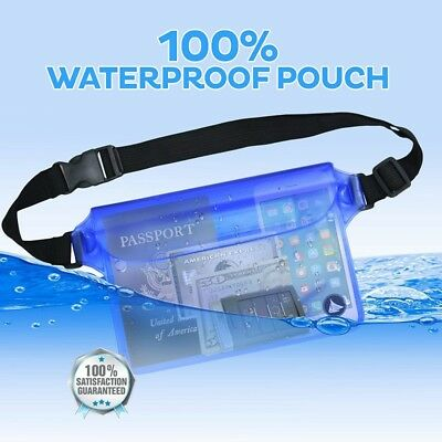 Portable Waterproof Underwater Waist Bag Swimming Beach Dry Pouch Case Wallet UK