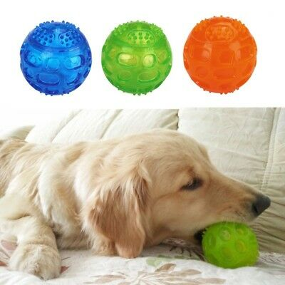 Pet Dog Puppy Chew Ball Play Toy For Dental Teeth Cleaning Healthy Teething New