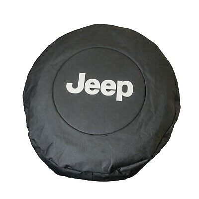"Jeep Wrangler JK Chrysler 17"" Spare Wheel Cover Tyre Storage Bag OEM - Black"
