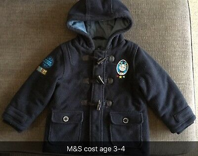 Boys Age 3-4 Coat, From M&S With Thomas The Tank Engine Detail