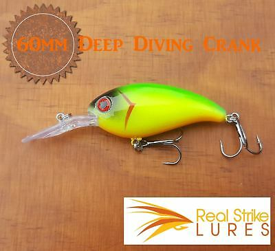 60mm Fishing lures Bream Bass Cod Yellowbelly Trout Barra Redfin Floating
